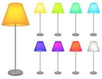 Lampe de couleur Photos stock