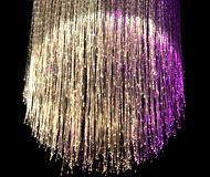 Lampe de fibre optique Images stock