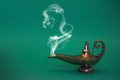 Lampe de fumage de génie Photos libres de droits