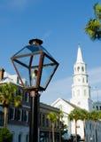 Lampe de gaz de rue à Charleston, Sc Photo libre de droits