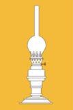 Lampe de kérosène illustration stock