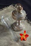 Lampe de kérosène antique Photo libre de droits
