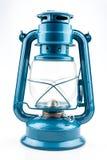 Lampe de kérosène bleue Photo stock