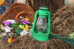 Lampe de kérosène de vieillissement photos stock