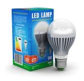 Lampe de LED avec la boîte de paquet illustration de vecteur