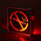 Lampe de LED non-fumeurs photo libre de droits