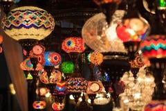 Lampe de luxe avec coloré Photos stock