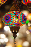 Lampe de luxe avec coloré Photographie stock