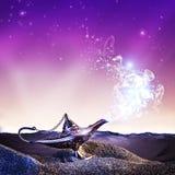 Lampe de magie d'Aladdin photographie stock libre de droits