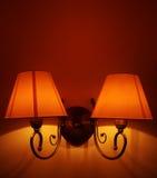 Lampe de mur élégante Photo stock