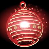 Lampe de Noël avec le fond de Noël et le vecteur de carte de voeux Photographie stock libre de droits