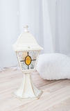 Lampe de Noël blanc Photos stock