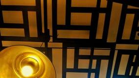 Lampe de plafond de style japonais Images libres de droits