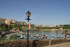 Lampe de port de Tenby Photographie stock libre de droits
