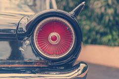 lampe de queue de rétro style classique de vintage de voiture Photo libre de droits