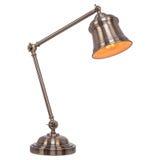 Lampe de table de vintage d'isolement sur le fond blanc Images stock