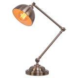 Lampe de table de vintage d'isolement sur le fond blanc Photos libres de droits