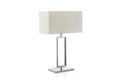 Lampe de table moderne avec le petit abat-jour blanc Photo libre de droits