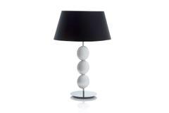 Lampe de table moderne avec le petit abat-jour blanc Images libres de droits