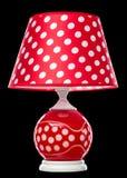 Lampe de table moderne d'isolement sur le noir Image stock