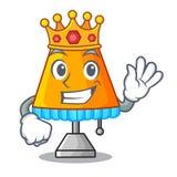 Lampe de table moderne de roi d'isolement sur la mascotte illustration stock