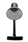 Lampe de table noire métallique d'isolement sur le blanc Images stock