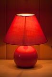Lampe de table rouge Image libre de droits