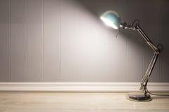 Lampe de Tableau avec le fond gris Photographie stock libre de droits