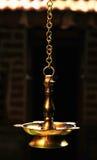 Lampe de temple hindou Images stock