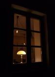 Lampe de vintage avec l'abat-jour Photo libre de droits