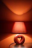 Lampe in den warmen Farben Stockfotografie