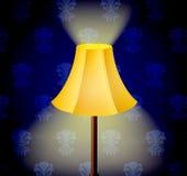 Lampe in der Dunkelheit stock abbildung