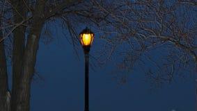 Lampe in der Nacht Lizenzfreie Stockbilder