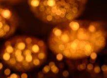 Lampe des gelben Lichtes der Unschärfe Lizenzfreies Stockbild