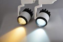 Lampe deux menée commerciale images stock