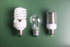 Lampe différente sur le vert Images libres de droits