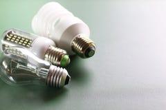 Lampe différente sur le vert Photographie stock libre de droits