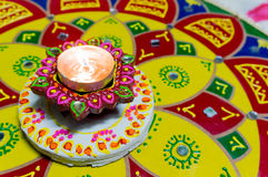 Lampe (diya) für diwali Stockfotos