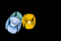 Lampe drei auf der Decke Lizenzfreies Stockbild