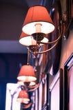 Lampe in einem Stab Stockbild