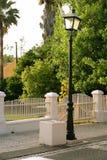 Lampe en stationnement vert Photographie stock libre de droits