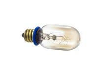 Lampe en verre avec l'anneau bleu et le poteau d'or Image libre de droits