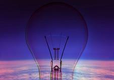 Lampe et globe illustration stock