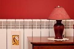 Lampe et radiateur images libres de droits