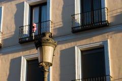 Lampe et Santa Photographie stock libre de droits