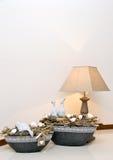 Lampe et vases Photos stock