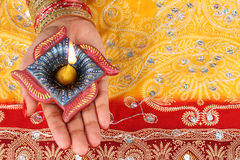 Lampe fabriquée à la main de Diwali Diya Image libre de droits