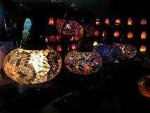 Lampe faite main turque de mosaïque Photo stock