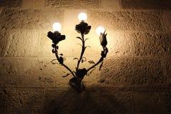 Lampe im Schloss Stockbild