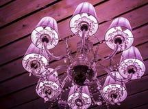 Lampe intérieure rose Photographie stock libre de droits